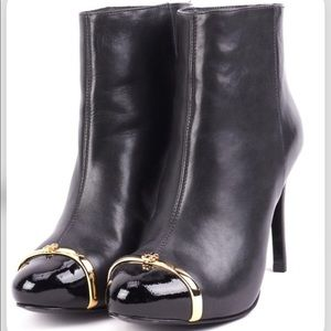 Tory Burch black leather bootie. Size 9.5